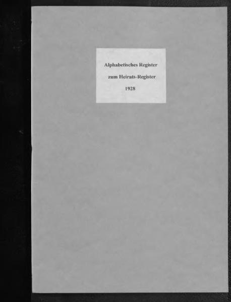 File:Alphabetisches Namensverzeichnis zum Heiratsregister des Standesamtes Minden, 1928.djvu