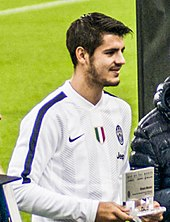 morata with juventus in 2017