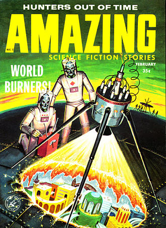 "Paul W. Fairman - Fairman's ""The World Burners"" was cover-featured on the February 1959 issue of Amazing Stories"