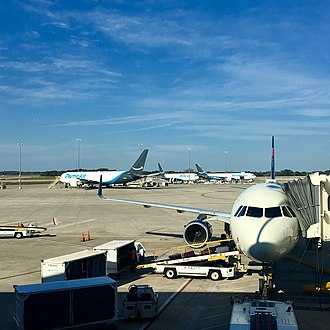 Amazon Air - Three Amazon Air 767s at Tampa International Airport