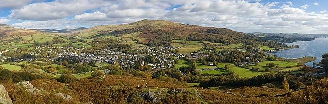 Ambleside & Waterhead Panorama, Cumbria, England - Oct 2009.jpg