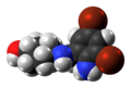 Ambroxol molecule spacefill from xtal.png