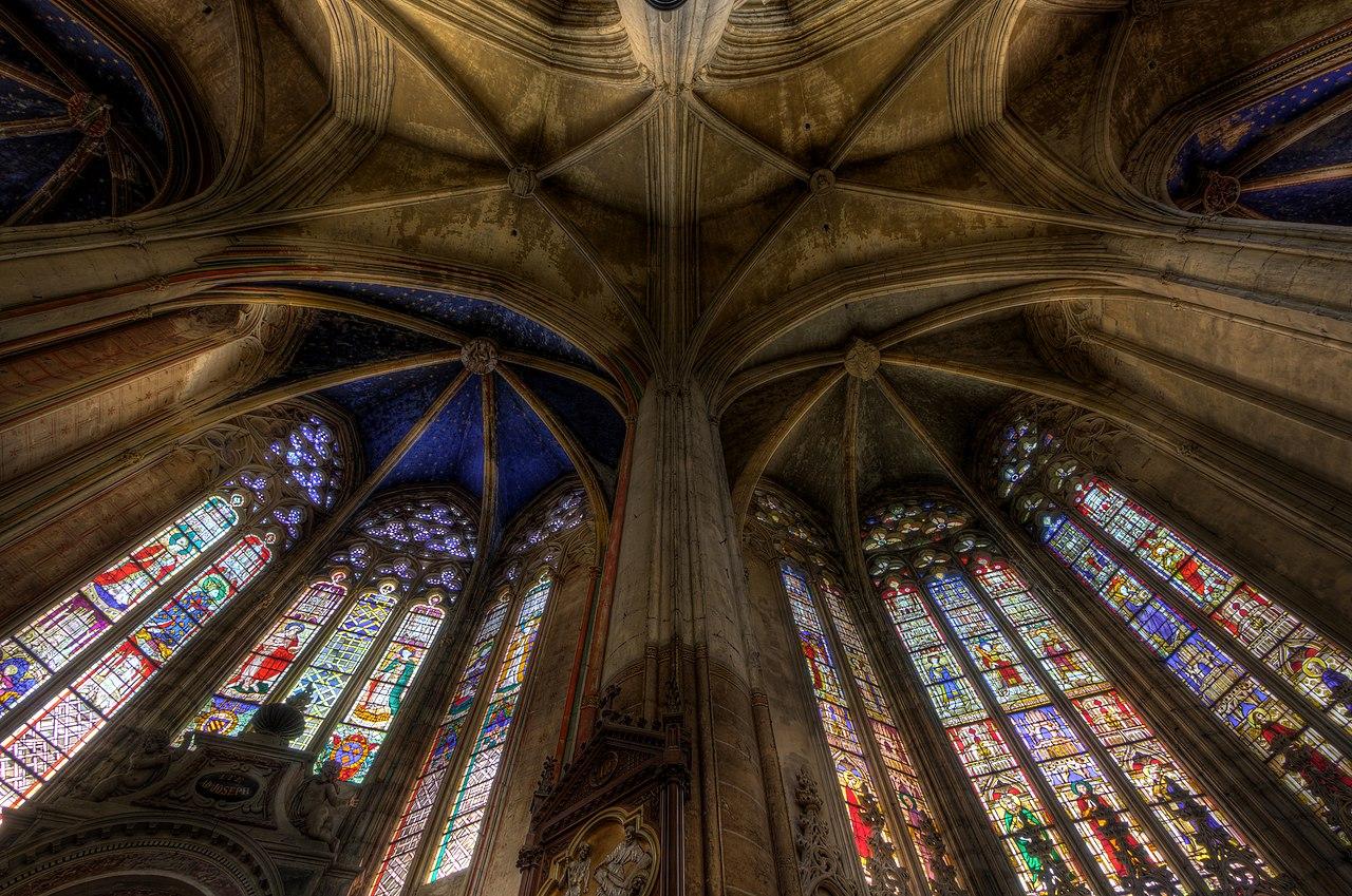 Le plafond du déambulatoire de la cathédrale Saint-Étienne de Toulouse.  (définition réelle 5064×3357)