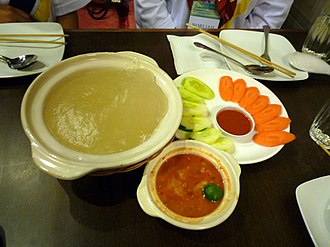Bruneian cuisine - Ambuyat, the national dish of Brunei.