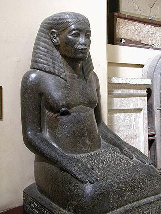 Amenhotep, son of Hapu - Amenhotep, son of Hapu, as an elderly man. Egyptian Museum, Cairo.