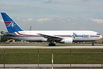AmeriJet International Boeing 767-200 LDS.jpg