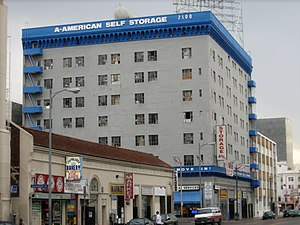 Example of an older, urban self storage facility.