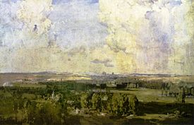 """Amiens, the key to the west"" karya Arthur Streeton, 1918."