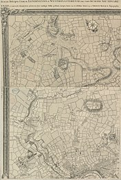 An Exact Survey of the citys of London Westminster ye Borough of Southwark and the Country near ten miles round (1 of 6).jpg