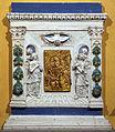 Andrea della robbia, cornice e coperta di ciborio, da chiesa di s. silvestro, 02.JPG
