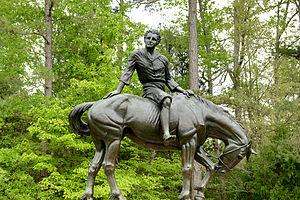 Andrew Jackson State Park - Large bronze statue of Andrew Jackson at Andrew Jackson State Park, Lancaster, SC. sculpted by Anna Hyatt Huntington.