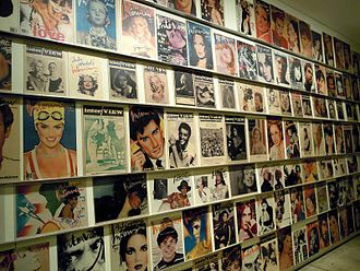 Interview (magazine) - Covers displayed in the Andy Warhol Museum