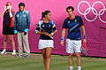 Andy Murray and Laura Robson -Wimbledon, London 2012 Olympics-3Aug2012.jpg