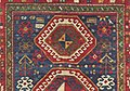 Antique Caucasian Kazak Rug Symbology Running Water.jpg