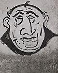 Antisemitic graffiti in Bratislava, c. 1941.jpg