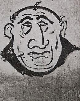 Antisemitic graffiti in Bratislava, c. 1941