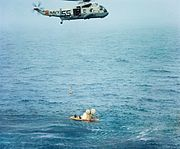 Apollo 7 recovery with SH-3 Sea King 1968