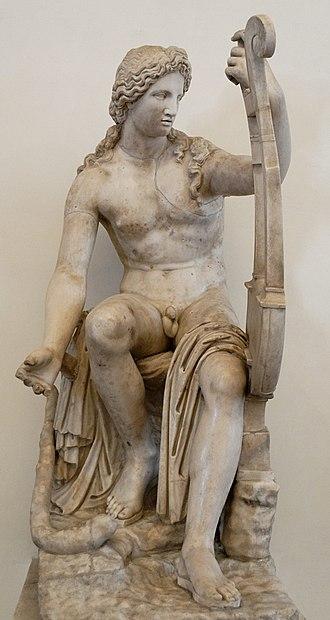 Ippolito Buzzi - Statue of Apollo restored by Buzzi for Cardinal Ludovisi (only the torso and right leg are antique), Palazzo Altemps