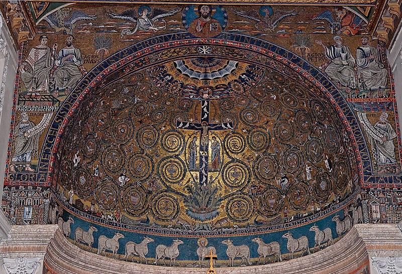 Il trionfo della Croce, Mosaico dell'Abside della Basilica di San Clemente a Roma dans immagini sacre 800px-Apsis_mosaic_San_Clemente