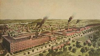 Hudson, Massachusetts - Apsley Rubber Company in 1911