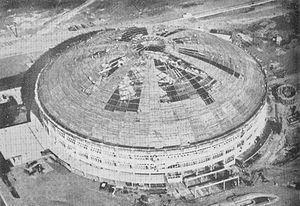 Smart Araneta Coliseum - Araneta Coliseum during its construction