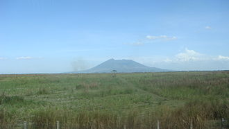 Luzon - The Central Luzon plain with Mount Arayat in the background