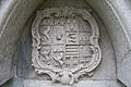 Ardfert Friary Choir North Wall Tomb Nice Susan Ann Crosbie Coat of Arms 2012 09 11.jpg