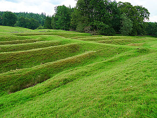Ardoch Roman Fort Archaeological site in Scotland