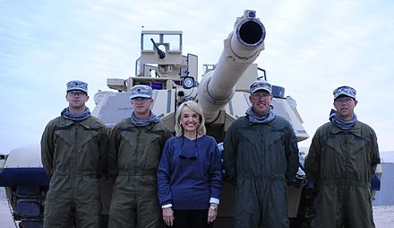 Governor Jan Brewer visits Arizona natives soldiers in Kuwait Arizona Gov. Jan Brewer visits sledgehammer soldiers in Kuwait DVIDS796326.jpg