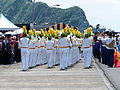 Army Academy R.O.C. Marching Band Leaving Pier after Performance Completed 20130504.jpg