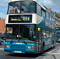 Arriva bus 7419 Volvo Olympian Northern Counties Palatine II P419 CCU in Newcastle 9 May 2009.jpg
