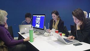 Файл:Art + Feminism Edit-a-thon at the Museum of Modern Art March 7, 2015.webm
