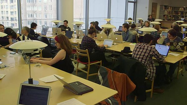 File:Art + Feminism Edit-a-thon at the Museum of Modern Art March 7, 2015.webm