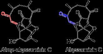 Atrop-abyssomicin C - Structure of Atrop-abyssomicin C and Abyssomicin C.