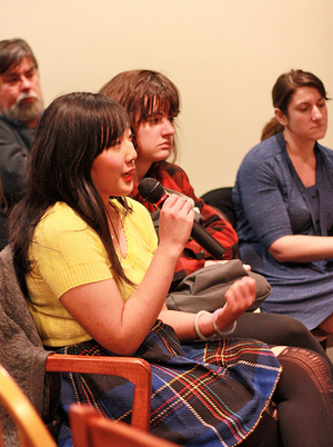 Kelly Writers House - Audience members participating in a Feminism/s event at the Kelly Writers House (photo thanks to Arielle Brousse)