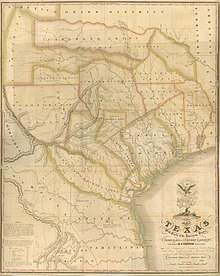 Map Of Texas 1836.Timeline Of The Republic Of Texas Wikipedia