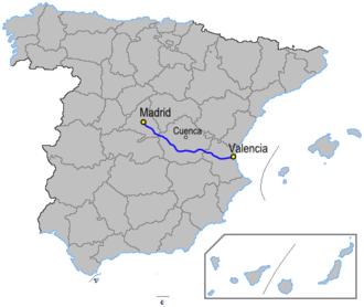 Autovía A-3 - Image: Autoviaesp a 3
