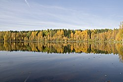 Autumn colors at vähäjärvi. - panoramio.jpg