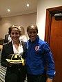 Ava Kuyken England schools 2014 with Rachel Yankey.jpg