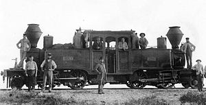 WAGR E class (1879) - E2 at Geraldton, 1886
