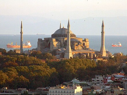 Hagia Sophia, cathedral of Constantinople at the time of the schism Ayasofya 2006-1.JPG