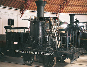 B&O Railroad Museum - Image: B&O 0 4 0 Atlantic (1832)