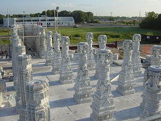 BAPS Shri Swaminarayan Mandir Houston - BAPS Houston Columns
