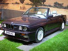 La BMW E30 M3 Cabriolet