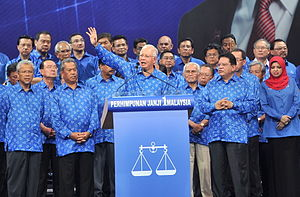 Barisan Nasional - Najib Razak at a pre-election rally in 2013