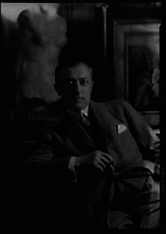 Kurt Walter Bachstitz - Portrait of Kurt Walter Bachstitz by Arnold Genthe, 1923.