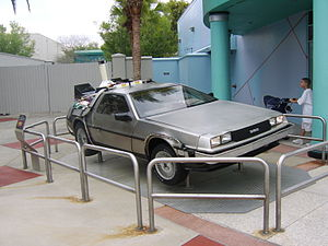 Back to the Future: The Ride - Image: Back to the Future De Lorean Universal Studios Florida