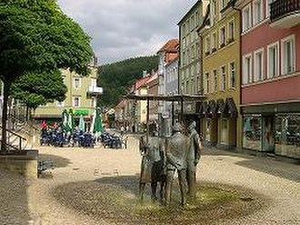 Bad Brückenau - The marketplace of Bad Brückenau