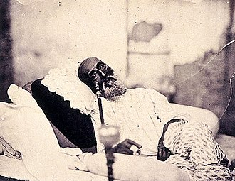 Bahadur Shah Zafar - Bahadur Shah Zafar in 1858, just after his trial and before his departure for exile in Burma.