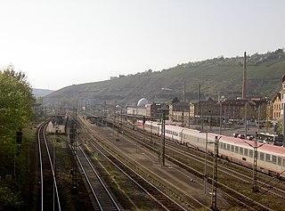 railway station in Esslingen, Germany